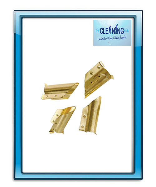 Brass Squeegee End Clips pk 10