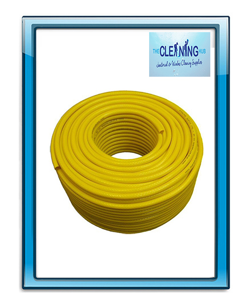 Twin Reinforced Microbore Yellow Hose 100 Meters (6mm)