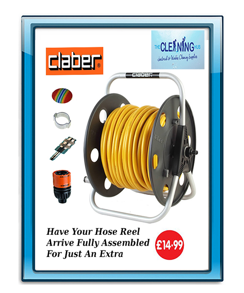 Claber Freestanding Metal Hose Reel Plus 100 Meters of 6mm Hose